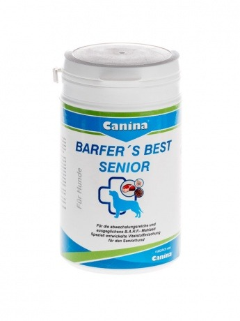 Canina Barfers Best Senior Nahrungsergänzung für alte Hunde