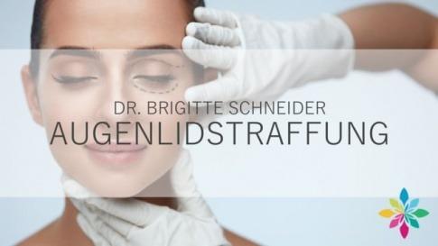 Dr. Brigitte Schneider erklärt eine Augenlidstraffung