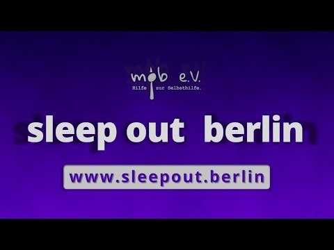 help out : sleep out - sleep out berlin