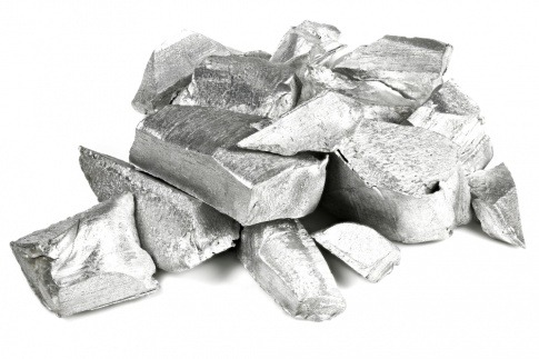 Aluminium ist gestapelt