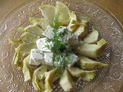 Rezept für Artischocken Salat mit Feta