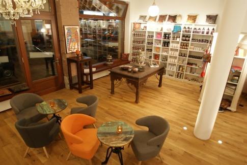 Das AyurSoul-Café wurde nach ayurvedischem Vorbild eingerichtet