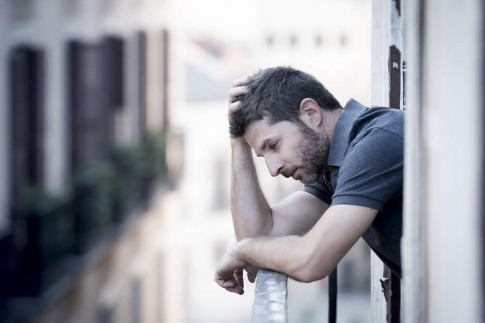 depressiv verstimmter Mann