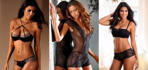 Models tragen Dessous und Unterwäsche