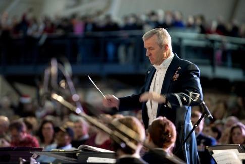 Dirigent bei der Arbeit