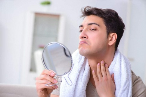 Hautirritation durch Rasurbrand