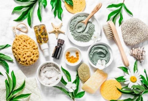 Natürliche Rohstoffe für die Herstellung von Make-up