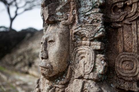 Stele der Maya-Kultur