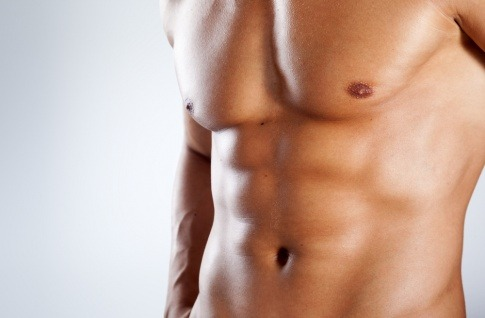 Nackter Oberkörper eines Mannes