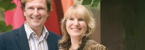 Kerstin Rosenberg mit ihrem Mann Mark Rosenberg