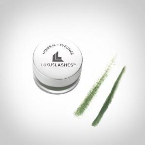 Mineral Kosmetik Eyeliner Grün von LUXUSLASHES