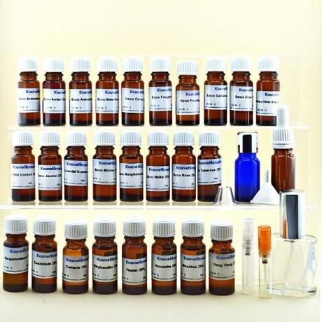 Kosmetikmacherei Parfumbaukasten