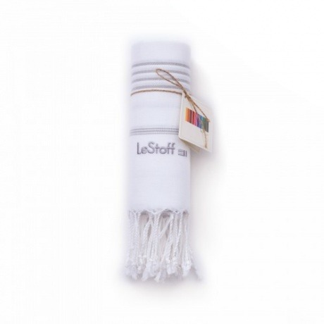 """Tuch """"White - Grey"""" von LeStoff"""