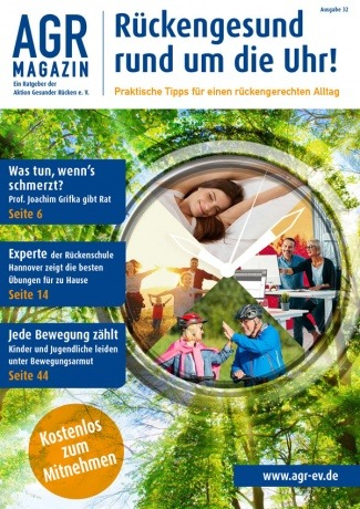 AGR-Magazin von Aktion Gesunder Rücken