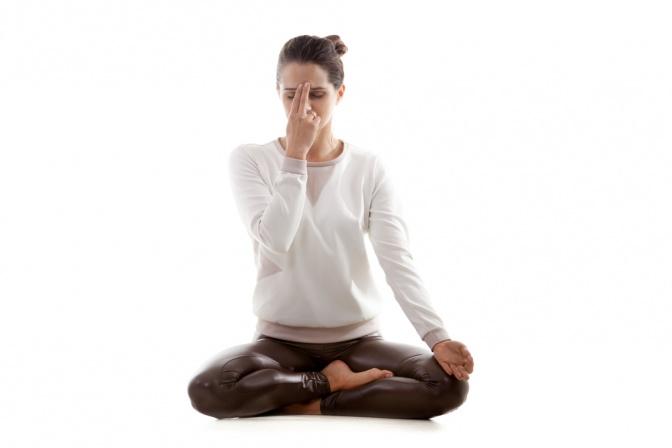 Atemübungen beim Yoga