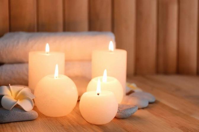 Brennende Kerzen.