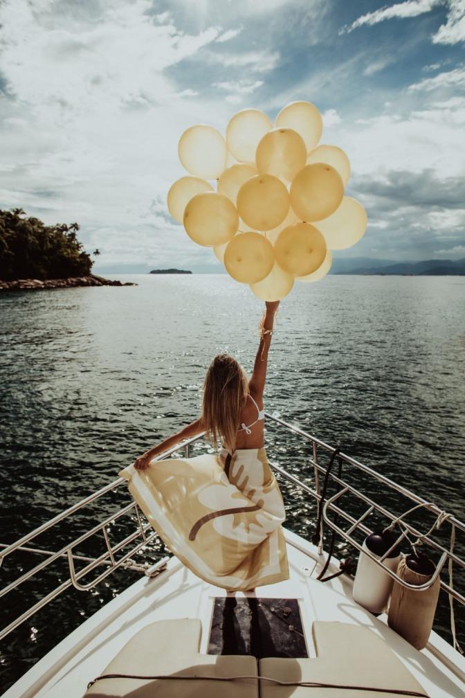 Luftballons beim Aufsteigen