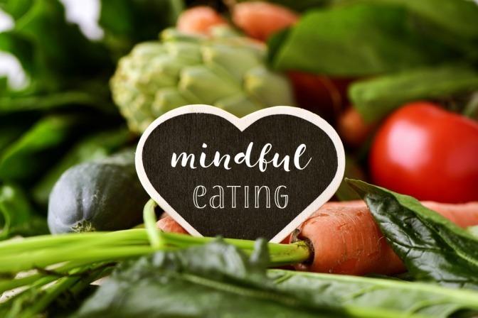 Schriftzug Mindful Eating