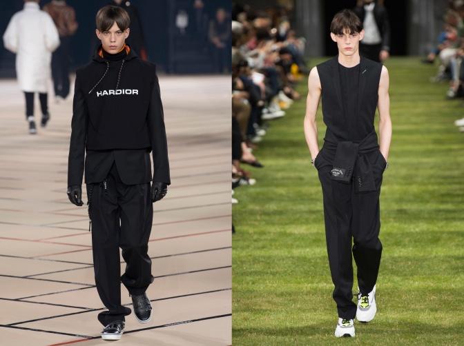 Zwei Models mit Bold Cut sind auf der Fashion Week zu sehen