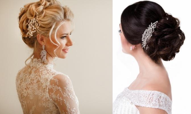 Zwei Frauen haben bei ihren Brautfrisuren Locken