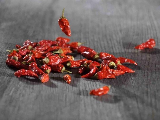Viele Stück vom gesunden Gewürz Chili