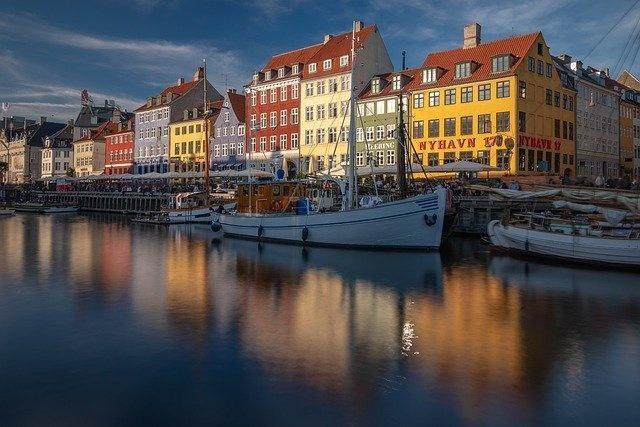 Eine idyllische dänische Stadt