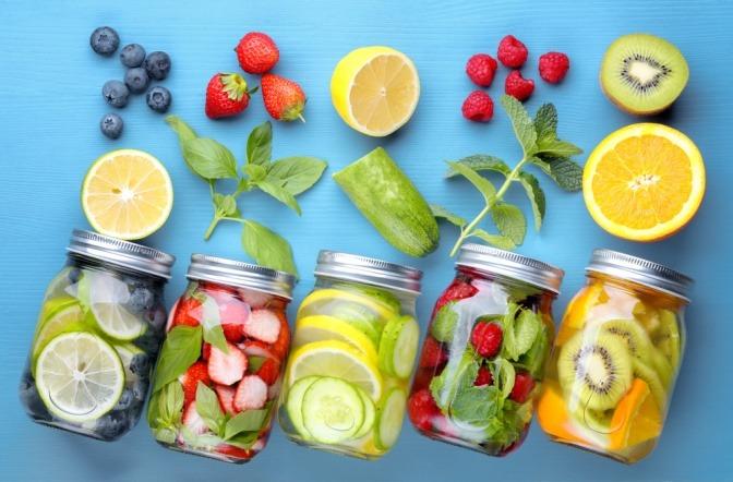 Obst und Gemüse für Smoothies