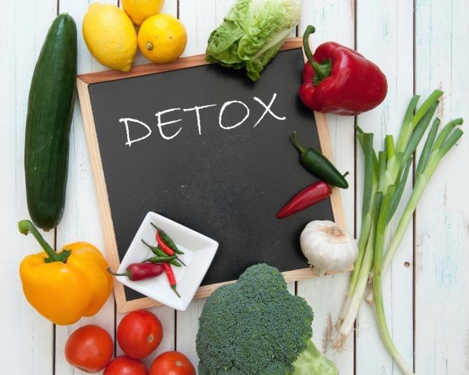 Detox und Gemüse