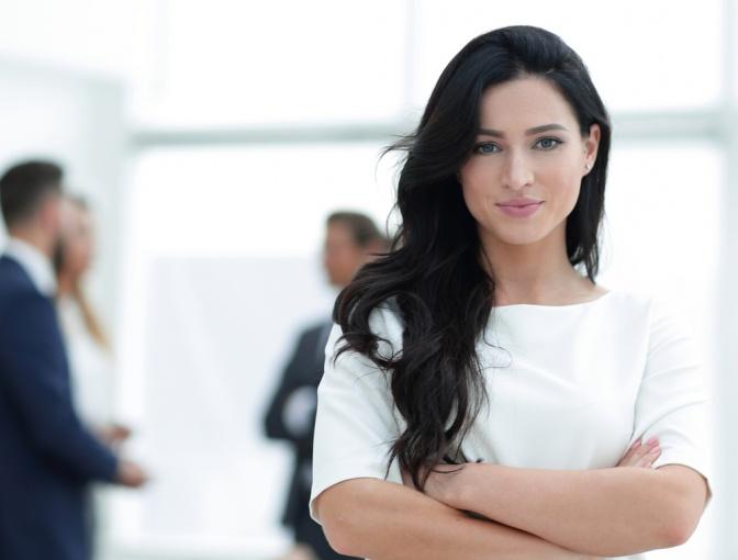 Erfolgreiche Frau im Office