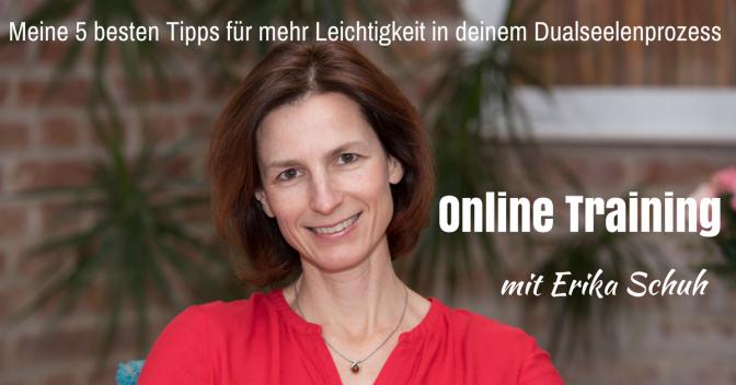 Erika Schuh wirbt für ihr Online-Training