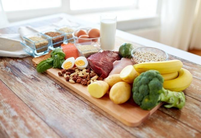 Lebensmittel für Ernährung in den Wechseljahren
