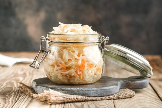 Sauerkraut im Einmachglas