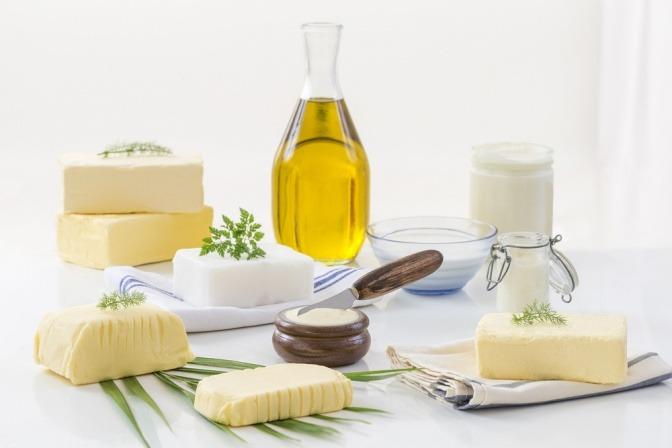 Fette in Ölen und Milchprodukten