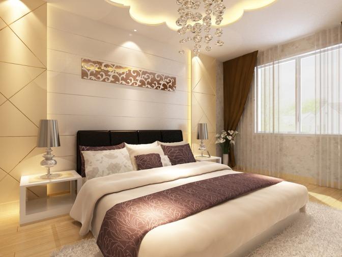 Ein Schlafzimmer ist nach Feng Shui eingerichtet