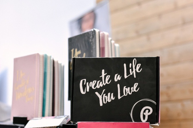 Aufschrift Create a life you love