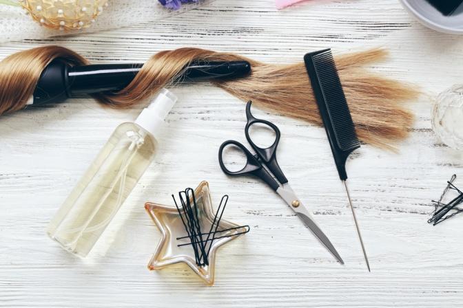 Professionelle Ausstattung eines Friseurs
