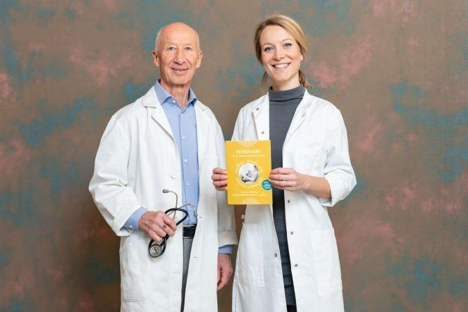Dr. Wolfgang Schachinger und Dr. Valeria scheinen glücklich schlank zu sein