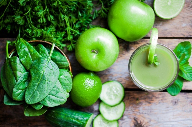 Zutaten für grüne Smoothies
