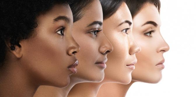Frauen mit verschiedenen Hautbedürfnissen