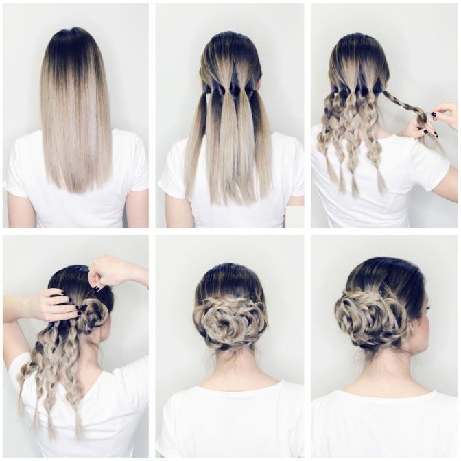 Haare hochsteckfrisur mittellang anleitung