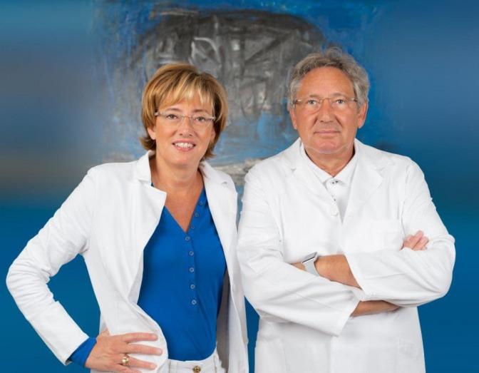 Gemeinsam mit ihrem Mann Univ.-Prof. Dr. Heinrich Magometschnigg ordiniert Dr. Michaela Magometschnigg in Salzburg.
