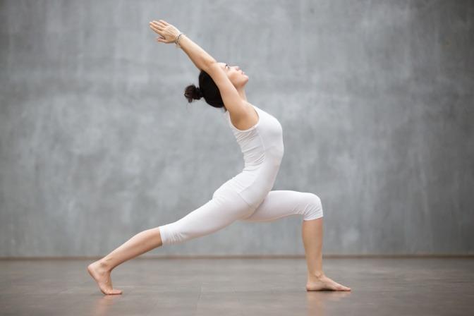 Yogaübung Krieger