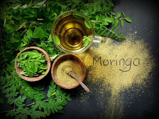 Moringa-Blätter, -Öl und -Samenpulver