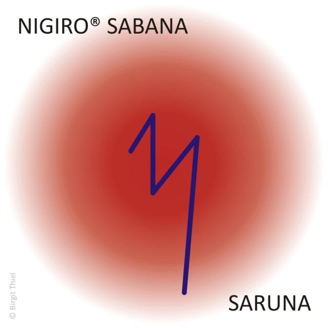 Das Nigiro Sabana Saruna Symbol ist zu sehen