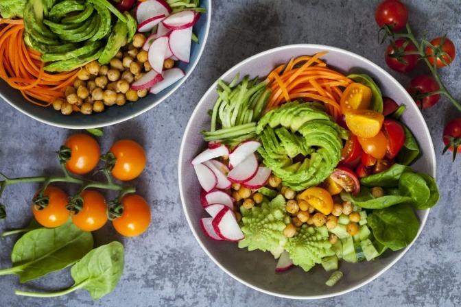 Obst und Gemüse, die als Happy Food dienen können