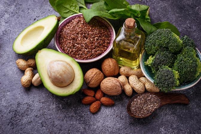 pflanzliche Lebensmittel mit viel Omega-3-Fettsäuren