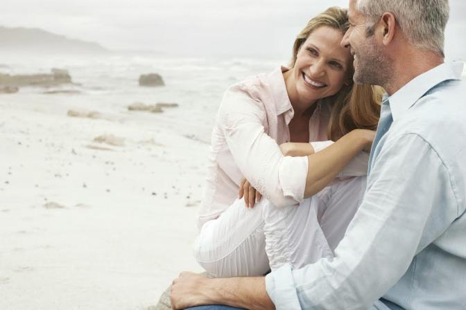 Älteres, glückliches Paar