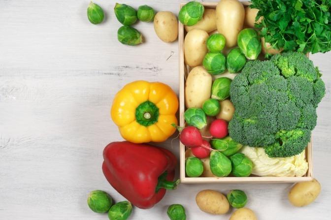 Paprika, Brokkoli und Rosenkohl