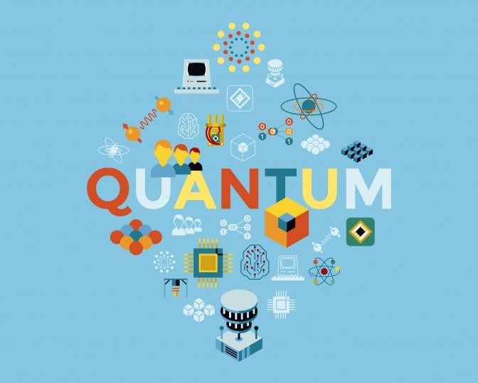 Eine Zeichnung zeigt den enormen Einfluss der Quantentheorie auf das moderne Leben.