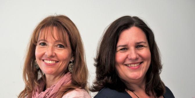 Renata Proske und Eva Buttazzoni sind glücklich